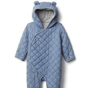 Baby Gap Chambray Bear Quilted One Piece